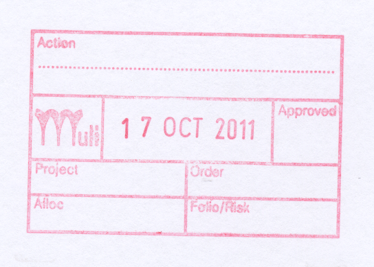 Muli Stamp with space for Folio number
